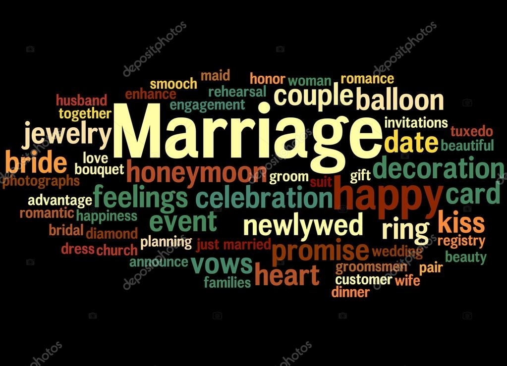 Marriage, word cloud concept 9 — Stock Photo © kataklinger ...