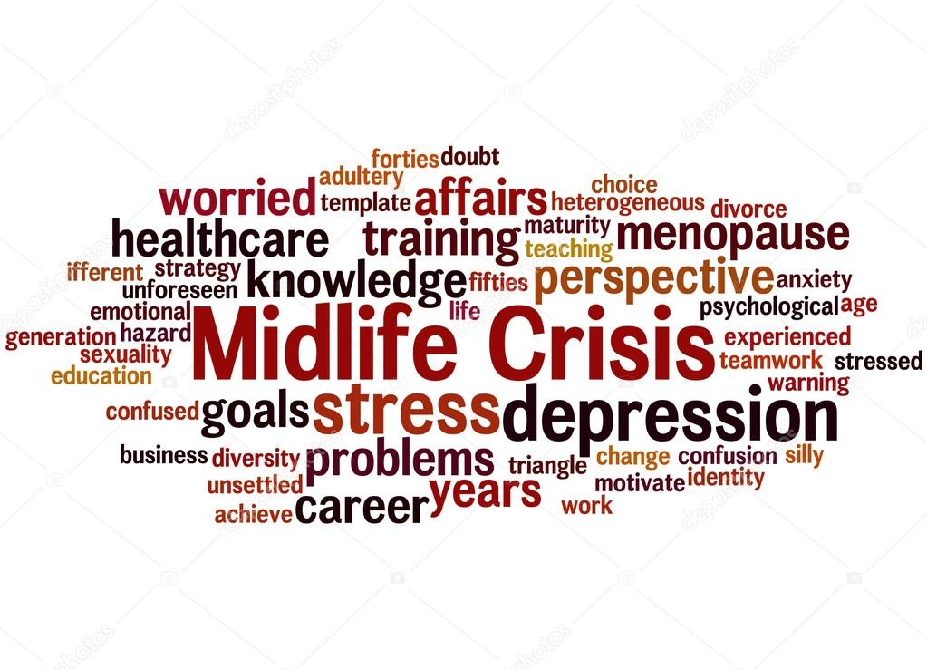 Midlife crisis, word cloud concept 8 — Stock Photo