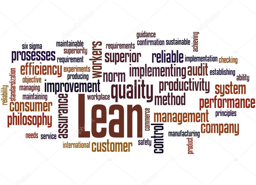 Stock Photo Lean Management Approach Word Cloud on lean six sigma clip art
