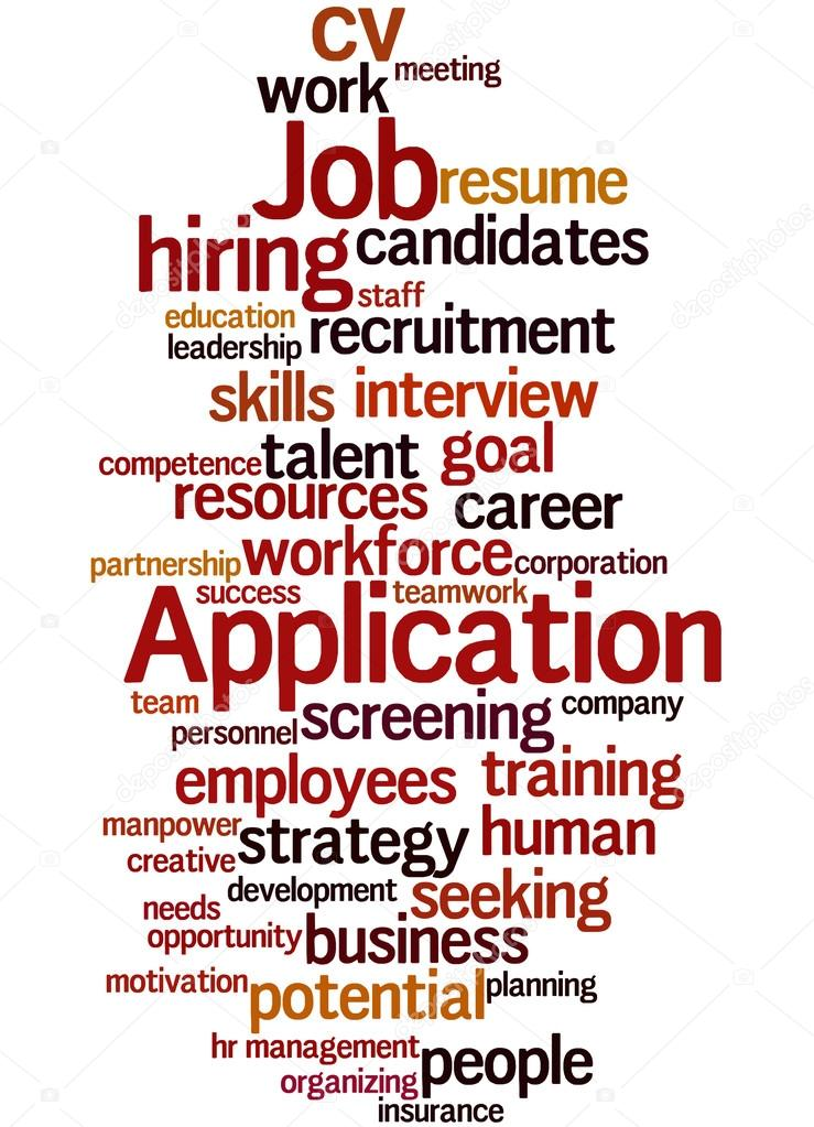 job application word cloud concept 9 stock photo