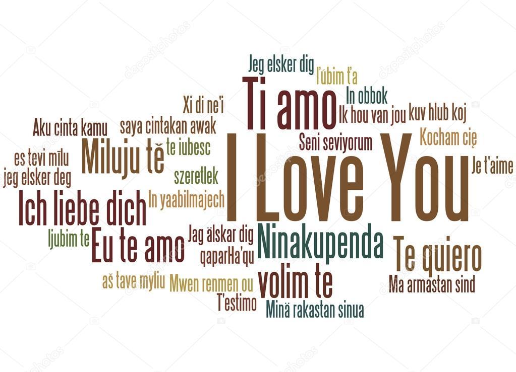 ik hou van je verschillende talen