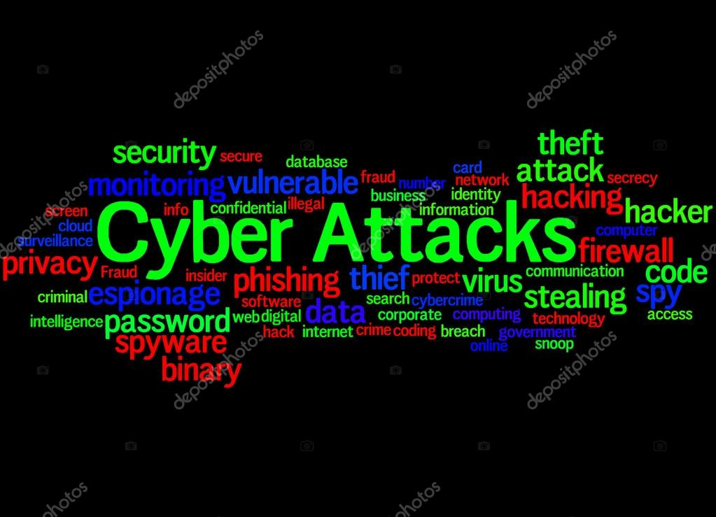 Cyber Attacks, word cloud concept 5 — Stock Photo © kataklinger