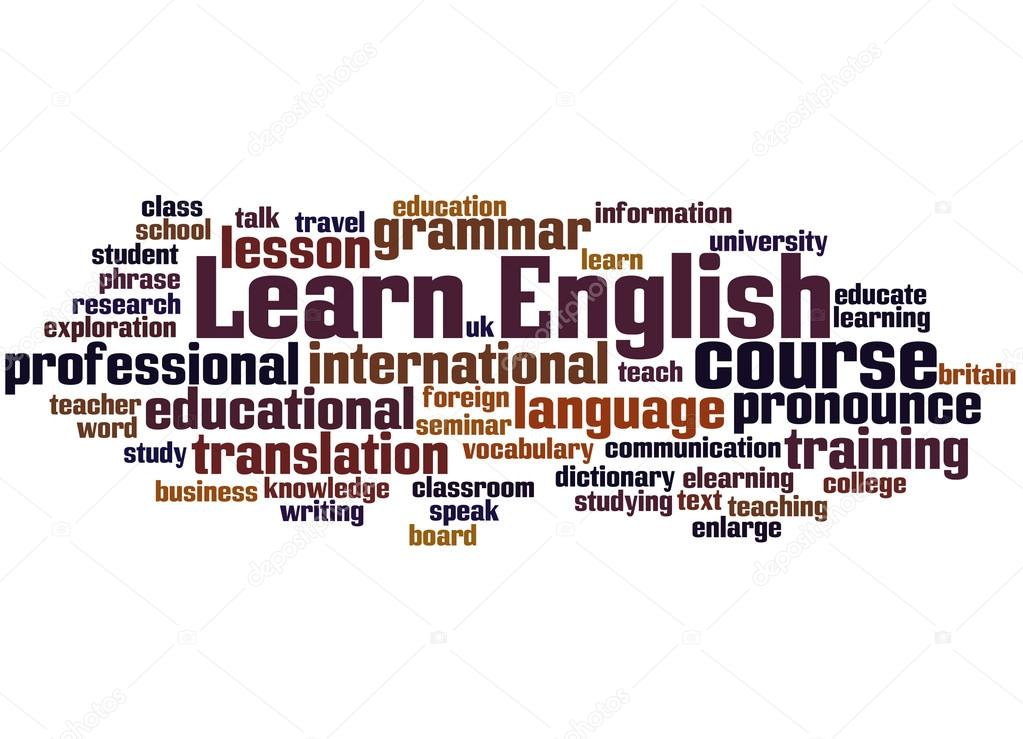 Learn English, word cloud concept — Stock Photo ...