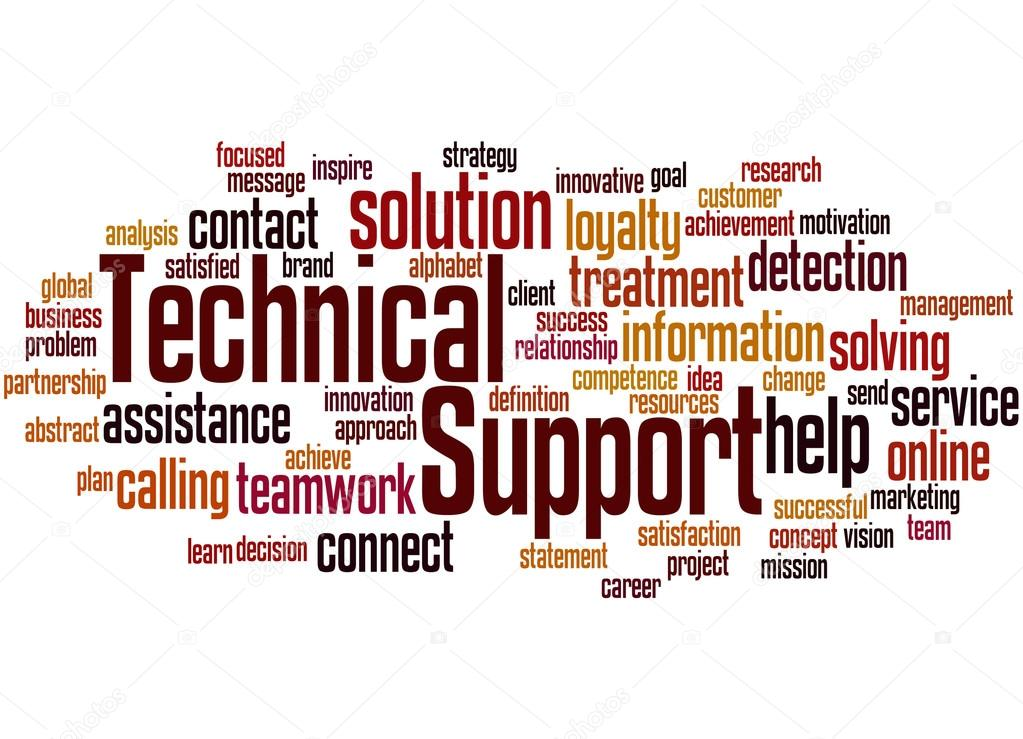 technical support word cloud concept 3 stock photo kataklinger