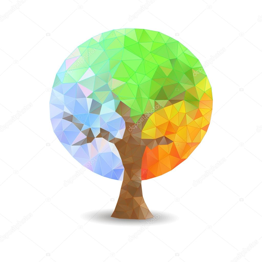 Polygonal tree seasons