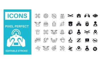 Drone Icons vector design icon