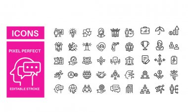 Business Concepts - set of line vector design icon