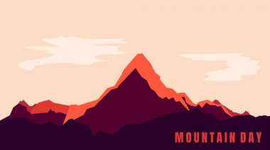 Mountain landscape background design for mountain day. Good template for mountain or adventure background design. icon