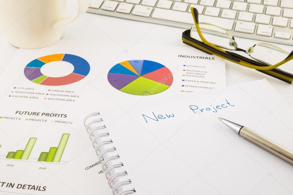 Erstellen Sie Ideen für neues Projekt, Diagramm und Chart mit ...