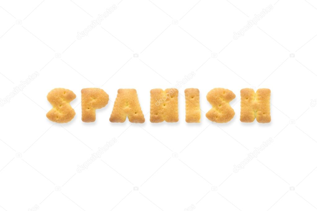 Der Brief Wort Spanische Alphabet Cookie Pirat Stockfoto
