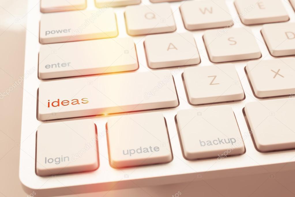 Verlichting vonk onder ideeën sleutel van computertoetsenbord ...