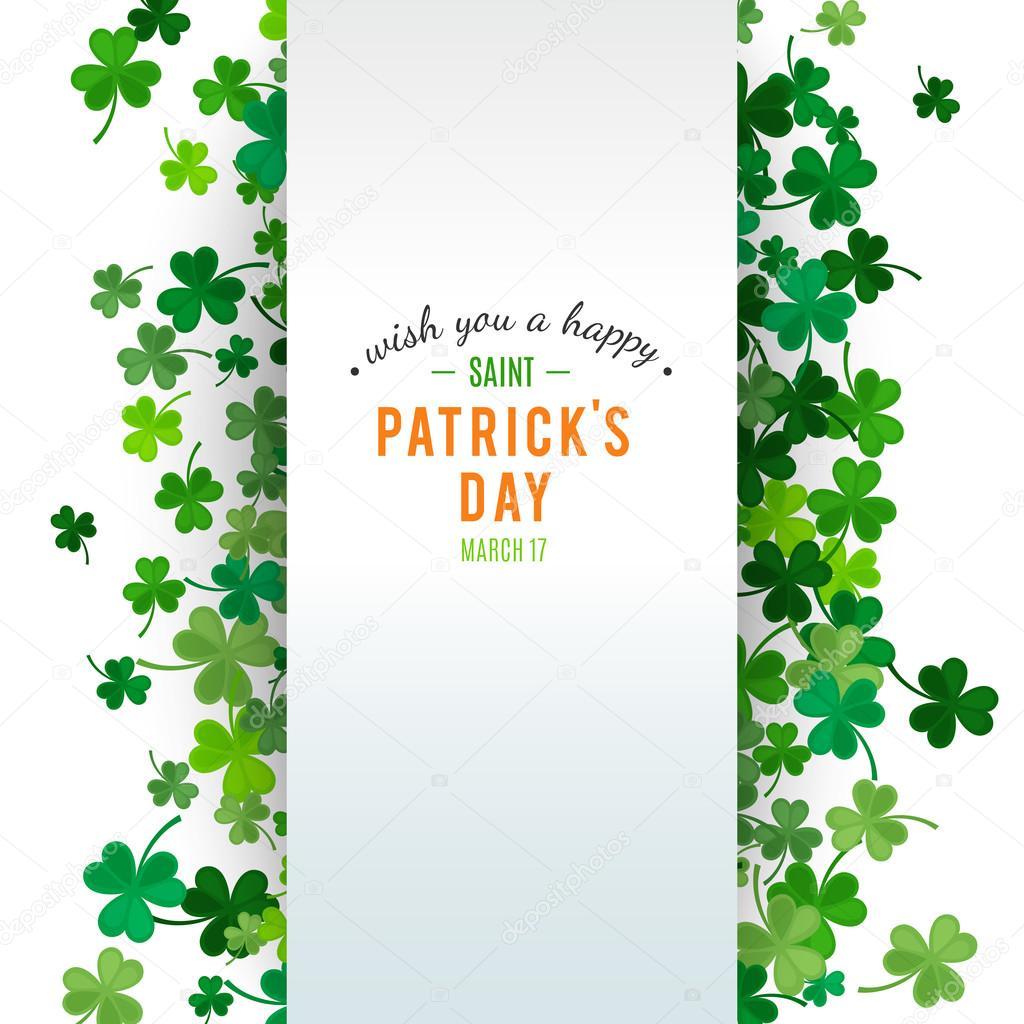 St Patricks Day background. Vector illustration