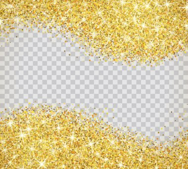 Gold glitter texture with sparkles