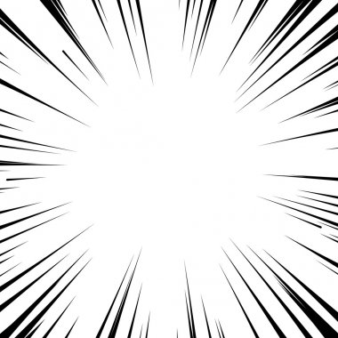 Manga comic book flash explosion radial lines background.