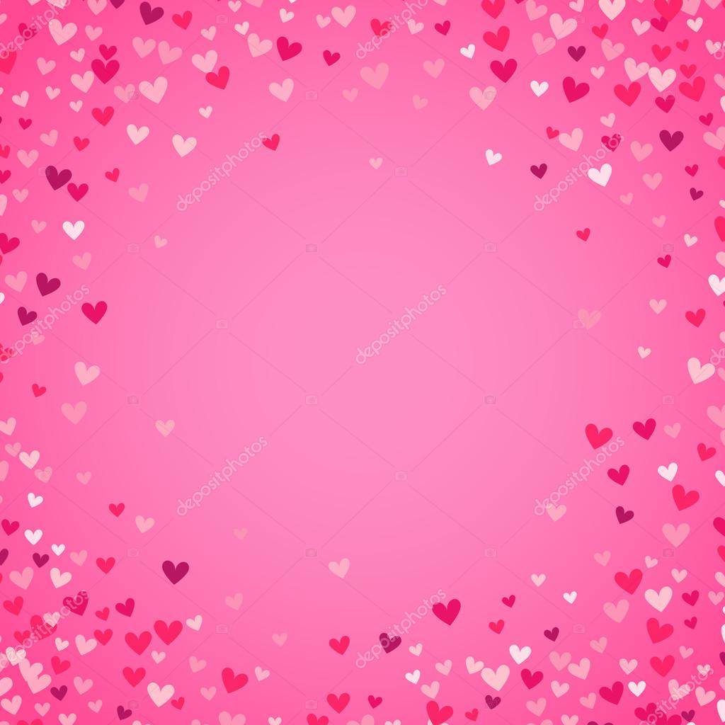 Mothers Day Card Romantic Pink Heart Background Illustration Stock Photo