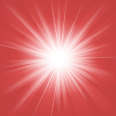 Red and white abstract magic light background. Vector