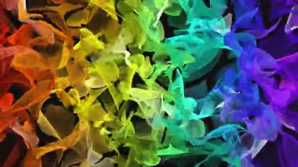 Abstraktní mozaika duha barevné zářící čtverce se světly