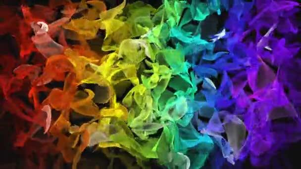 Duha barevné digitální fraktální po černém pozadí