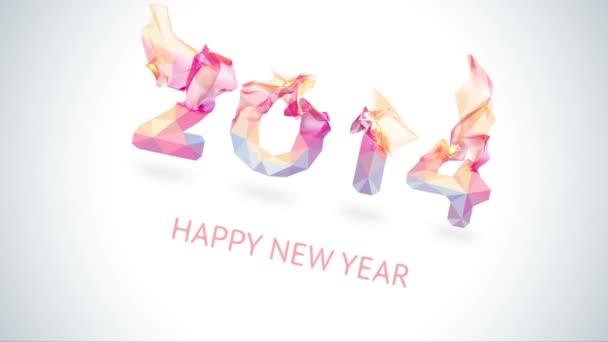 Od roku 2014 do roku 2015. Šťastný nový rok 2015 barevné pozdrav video