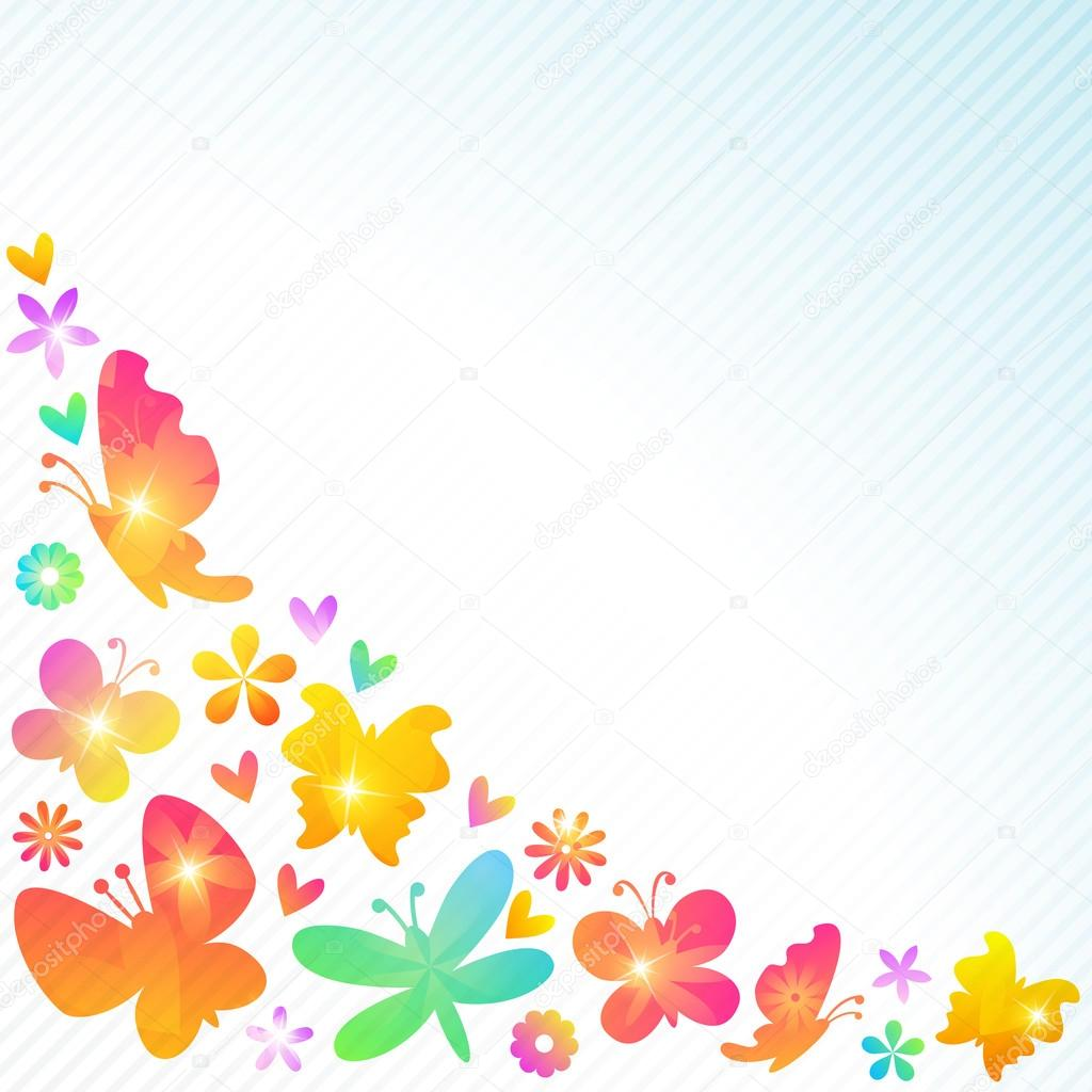 Colorful spring background design. Vector illustration