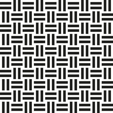 Abstract wicker seamless pattern. Vector illustration for retro