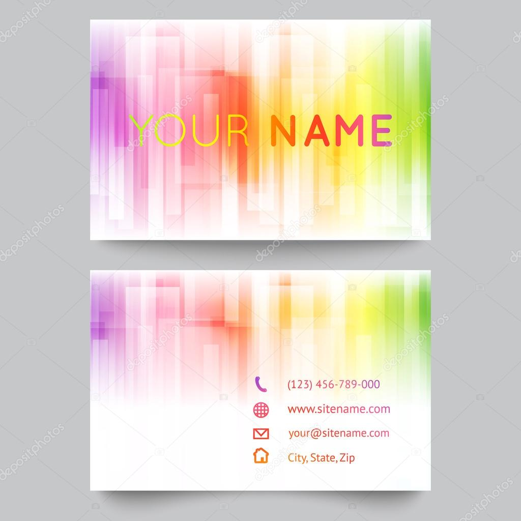 Business card template abstract bright rainbow on white background business card template abstract bright rainbow on white background stock vector reheart Choice Image