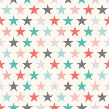 Retro colorful star seamless pattern. Vector illustration