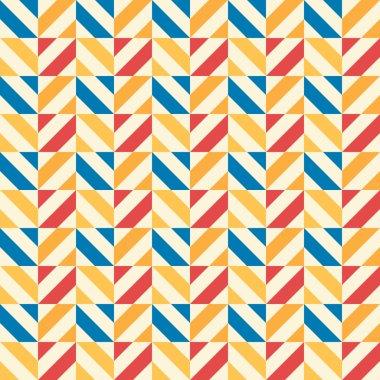 Retro kid vector seamless pattern. Endless texture