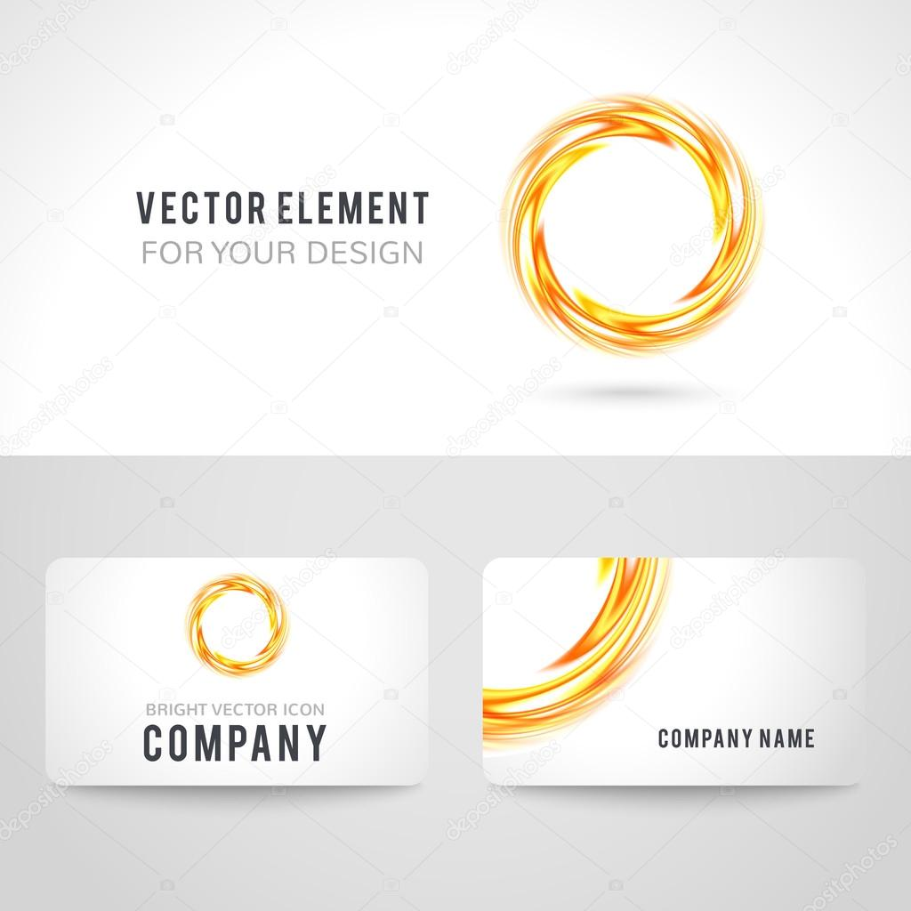 Business card template set abstract orange circle background business card template set abstract orange circle background vector illustration stock vector cheaphphosting Images