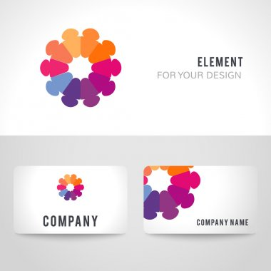 Abstract bright colorful communication logotype.