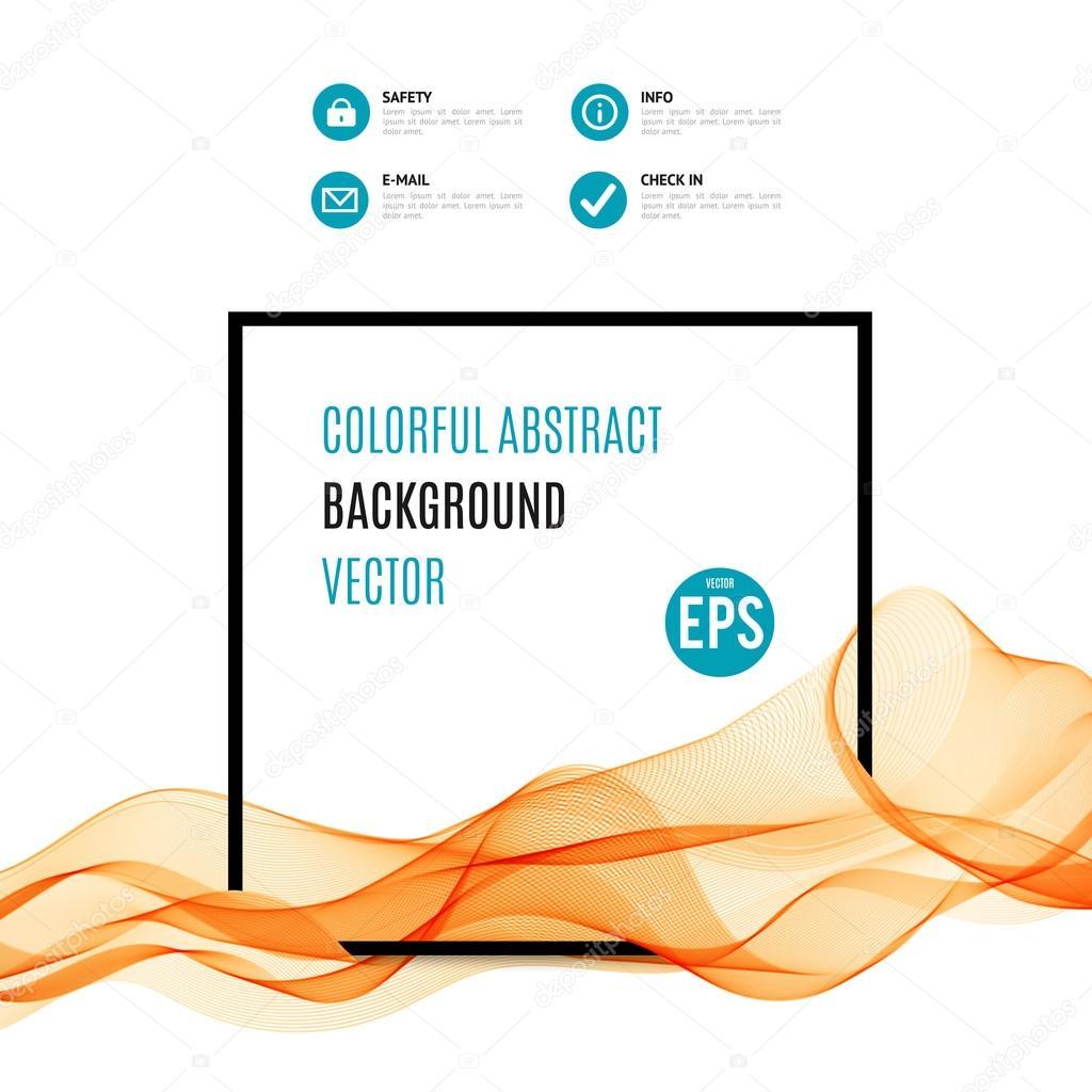r u00e9sum u00e9 vague orange avec cadre noir  u2014 image vectorielle kannaa  u00a9  95132226
