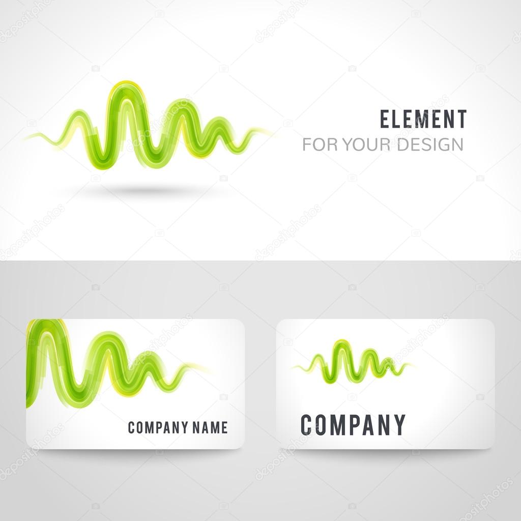 Business card template set abstract green wave background business card template set abstract green wave background illustration fotografia de stock reheart Gallery