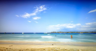 Long exposure of Gili trawangan beach.