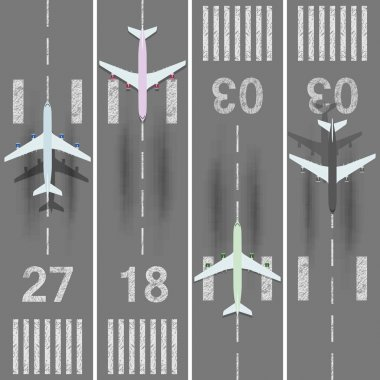 Airport runways set