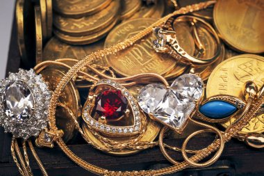 Treasures in the wooden chest