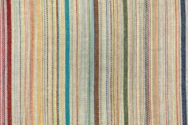 Old colorful striped fabric texture stock vector