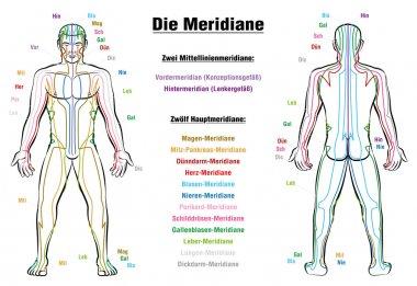 Meridian System Description Chart GERMAN