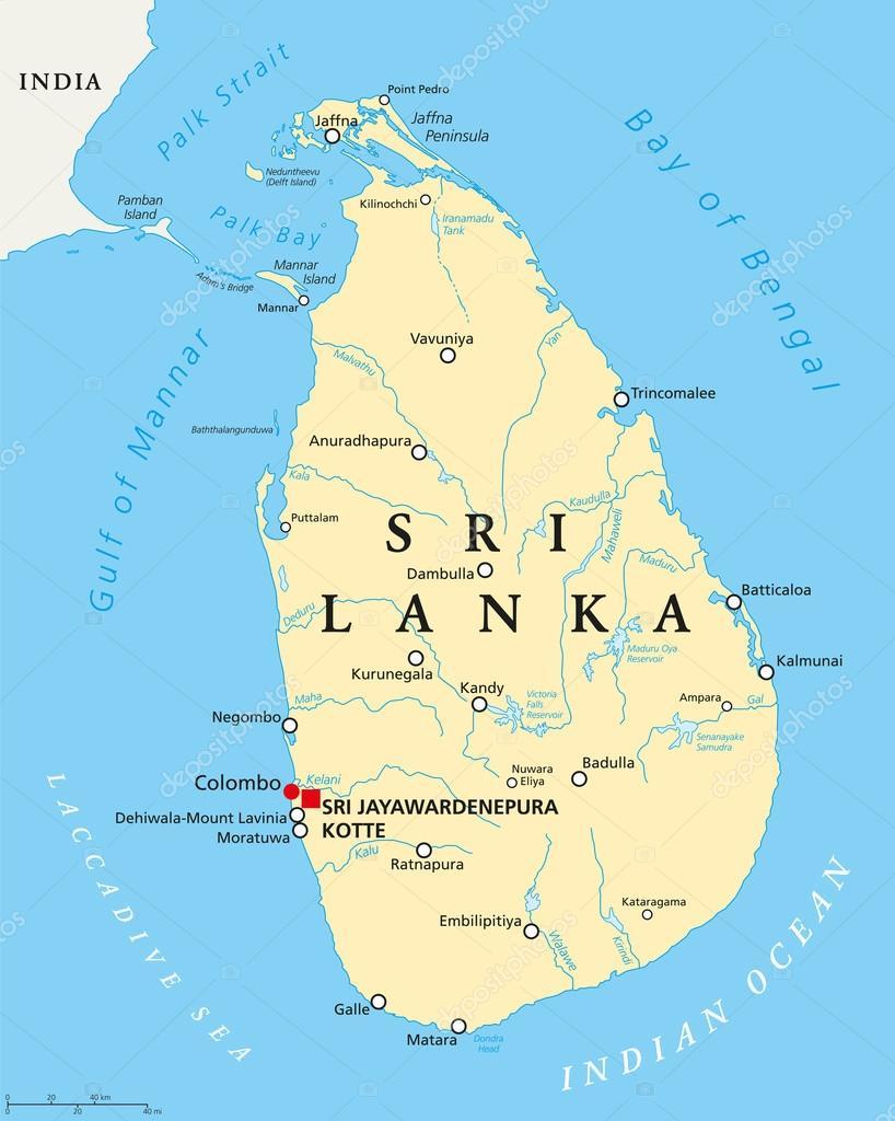 Sri lanka political map stock vector furian 115840280 sri lanka political map stock vector gumiabroncs Image collections