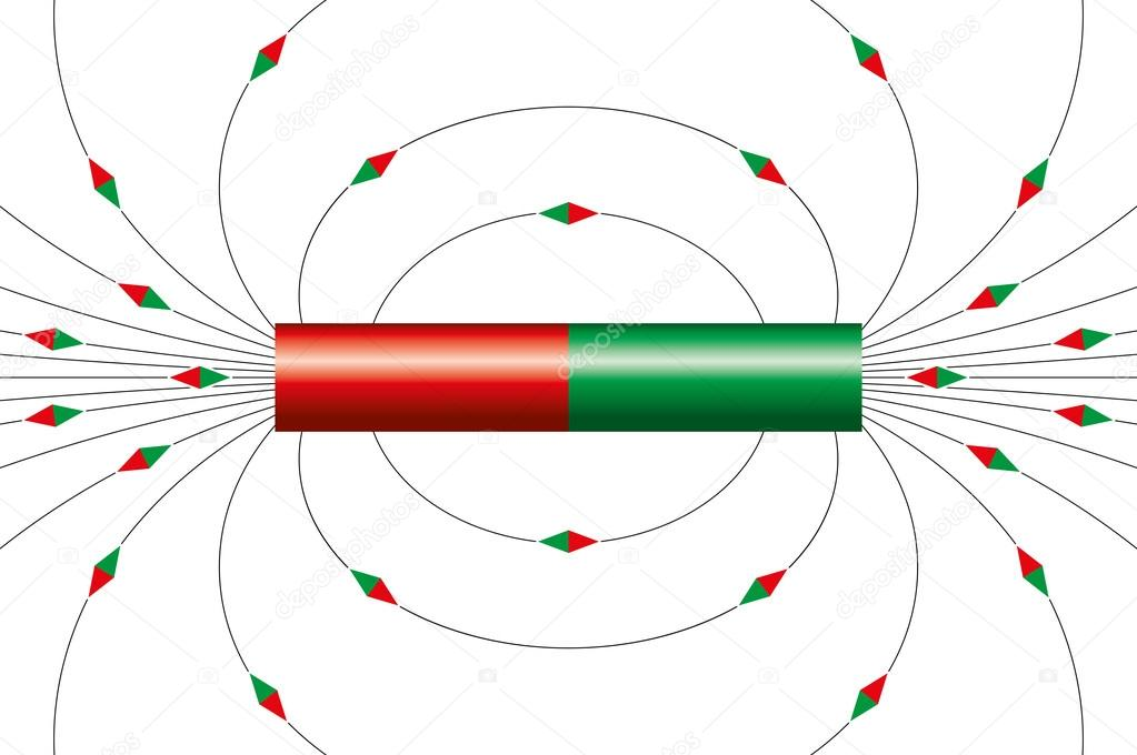 magnetic field lines of a bar magnet stock vector furian 121192790