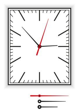 Rectangular Clock Face