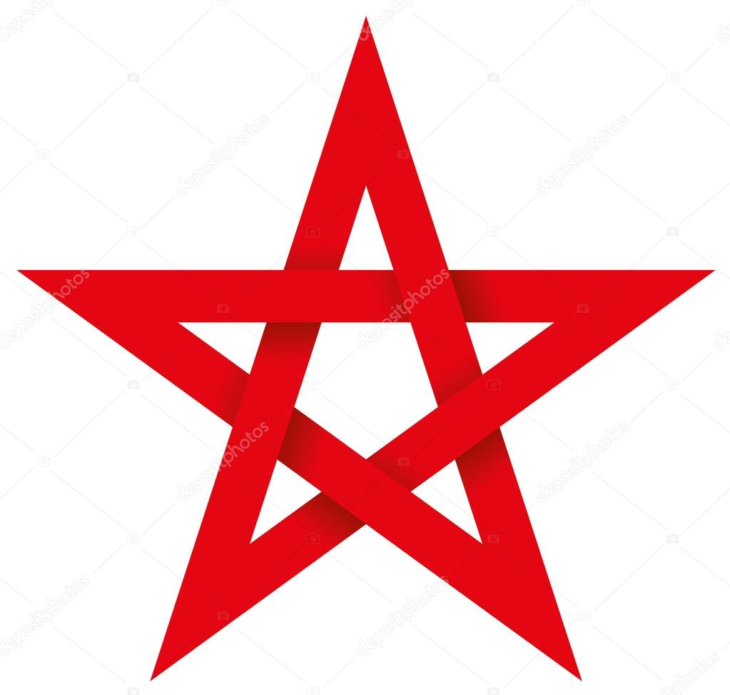 Deux symboles qui éveillent la faculté de visualiser Depositphotos_53556031-stock-illustration-red-pentagram-3d