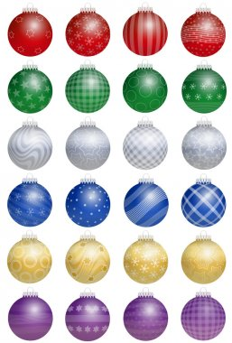 Christmas Tree Balls Colorful
