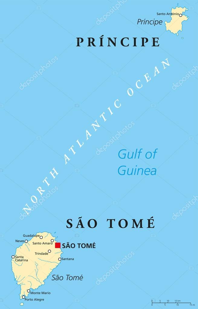 Sao Tome And Principe Political Map Stock Vector C Furian 59416887