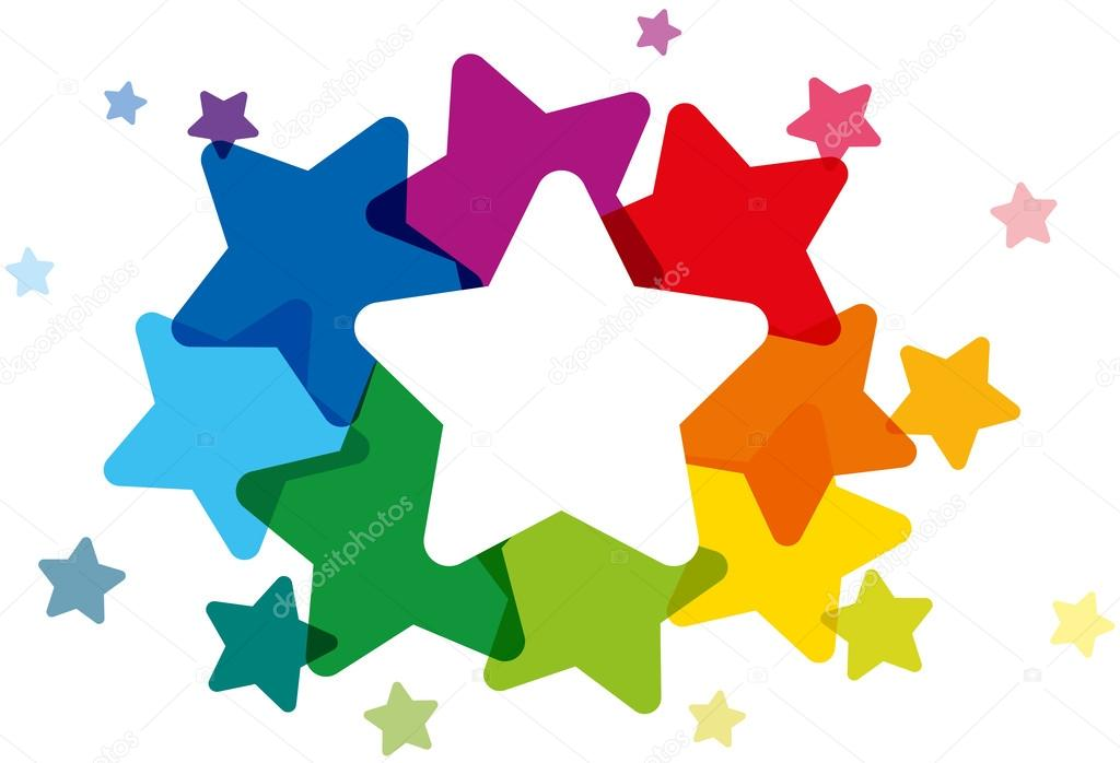 Rainbow Colored Stars