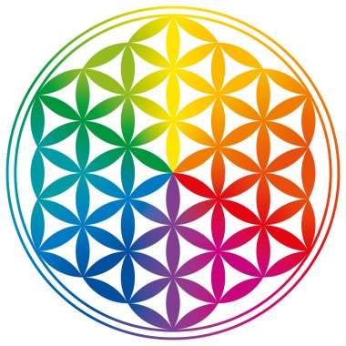 Flower of Life Rainbow Gradients