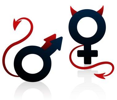 Bad Girl Bad Guy Devil Symbol
