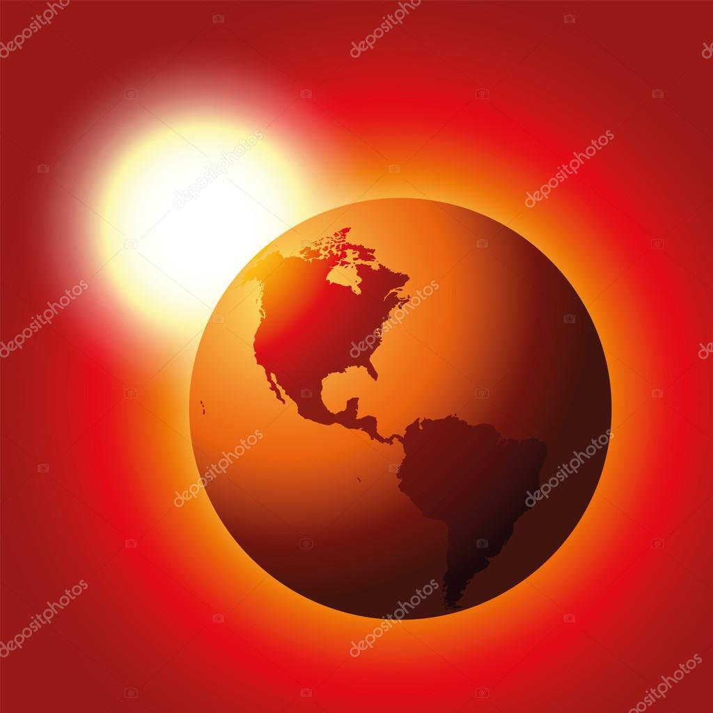 Global Warming Red Planet Earth