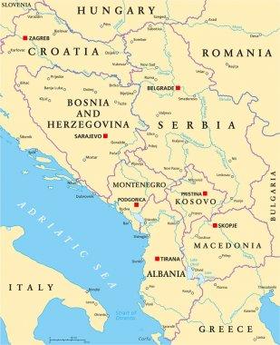 Central Balkan Political Map