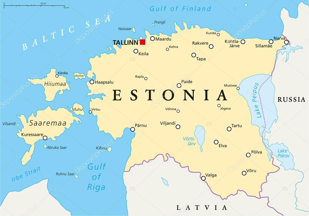estland karta Estland politiska karta — Stock Vektor © Furian #65519547 estland karta