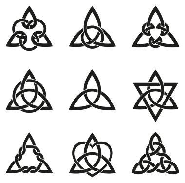 Nine Celtic Triangle Knots